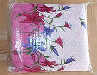 Постільна білизна Євро розміру жатка Тирасполь квіти на рожевому