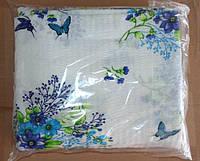 Постельное белье Евро размер жатка Молдавская синие цветочки
