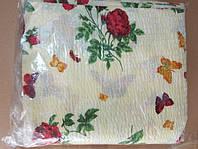 Постільна білизна Євро розміру жатка Тирасполь на світлому бордові троянди