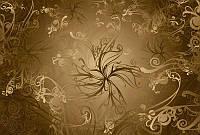 Фотообои бумажные на стену 368х254 см 8 листов: Золотой узор. Komar 8-703