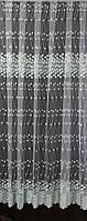 Тюль вышивка на микросетке Листочки - 5,6 метров