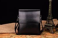 Стильная мужская сумка POLO, смотрите видеообзор! черная