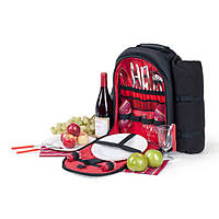 Набор для пикника - рюкзак Кемпинг Easy go на 4 персоны (термосумка + посуда), фото 1