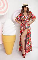 Шелковое платье для пляжа