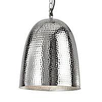 Светильник потолочный купол Loft [ Hammered Pendants ] (shiny nickel)
