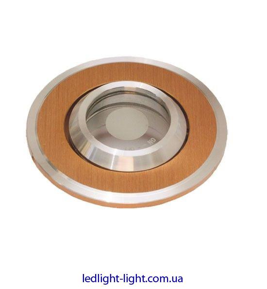 Точковий світильник врізний HDL 16141 алюміній золото