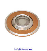 Точечный врезной светильник HDL 16141 алюминий золото