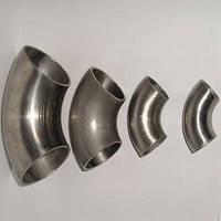 Отвод стальной 90 градусов  ГОСТ AISI 304 из нержавеющей стали 04Х18Н9