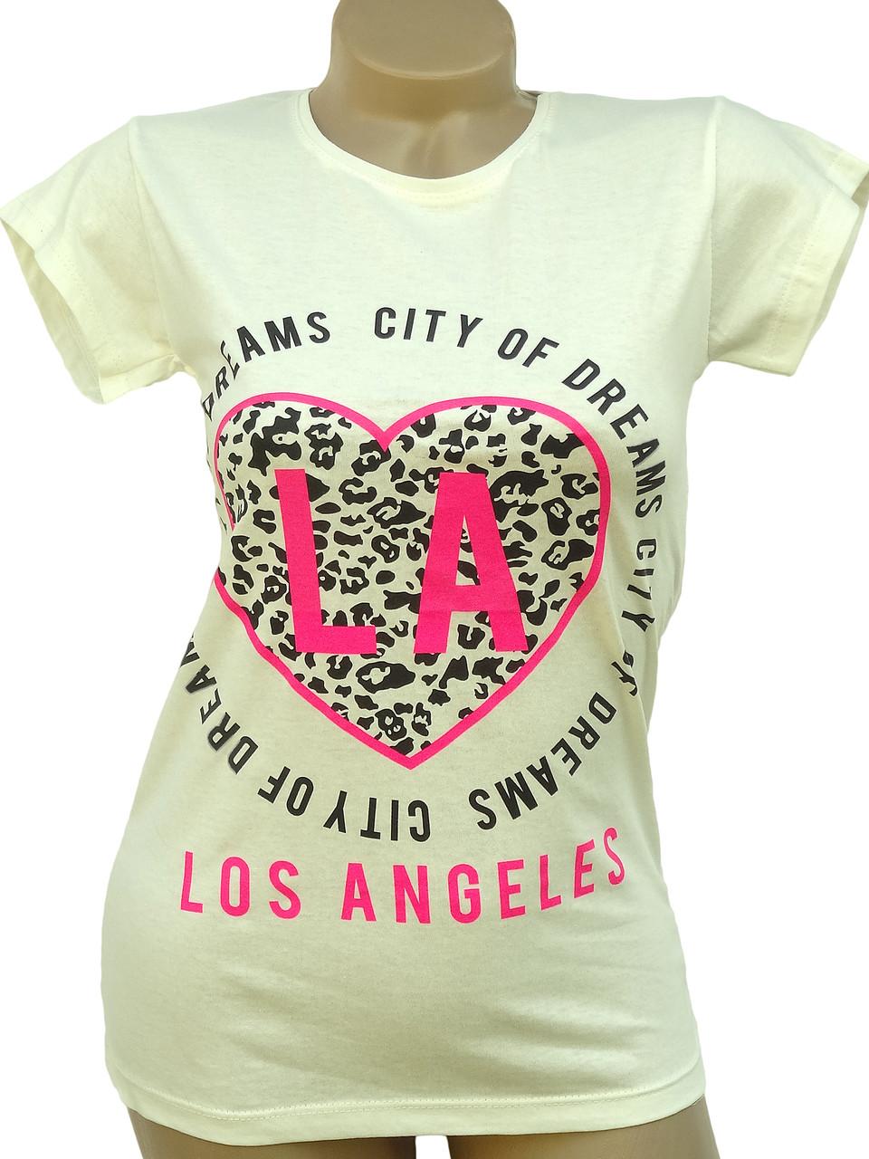 Модные летние футболки из хлопка (в расцветках 40-46)