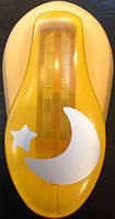 Дырокол фигурный для детского творчества CD-99M №120 Луна со звездой