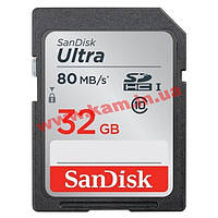 Карта памяти SanDisk Ultra SDHC 32GB Class 10 UHS-I 80MB/ s (SDSDUNC-032G-GN6IN)