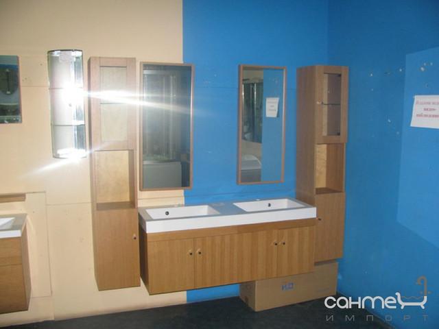 Уценённая сантехника Мебель и зеркала для ванной комнаты Комплект мебели для ванной комнаты с двумя пеналами Orans G20 (цвет Wood) (уценка)