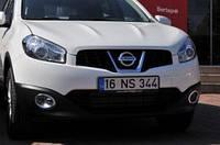 Nissan Qashqai 2010-2014 обводка протитуманк нерж