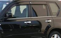 Nissan X-Trail 2010-2014 окантовка окон нерж