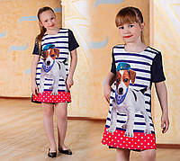 Платье - туника на девочку № ат 1058 гл