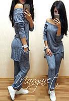 Женский стильный костюм:ассиметричная кофта и штаны (2 цвета)