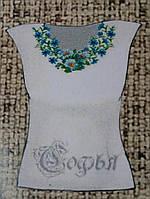 Заготовка для вышивания женской блузы на ткани габардин 180/230 (цена за 1 шт. + 50 гр.)