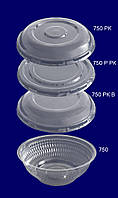 Упаковка круглая арт.750 с крышками  арт.750 РК /Р РК/ РК В, фото 1