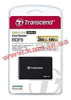 Кардридер Transcend USB 3.1 RDF9K UHS-II Black R260/ W,190MB/ s (TS-RDF9K)