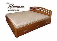 """Кровать двуспальная деревянная с ящиками """"Натали"""" kr.nt6.1"""