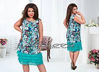 """Летнее женское платье до 54 размера """"Lamoda"""""""