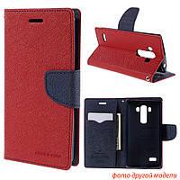 Чехол книжка Mercury Goospery Wallet для LG K4 K130E красный