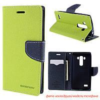 Чехол книжка Mercury Goospery Wallet для LG L60 X135 X145 X147 зеленый