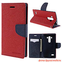 Чехол книжка Mercury Goospery Wallet для LG L60 X135 X145 X147 красный