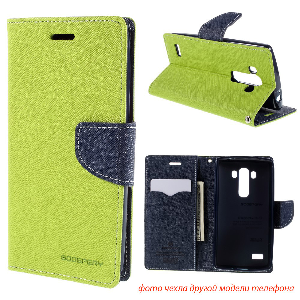 Чехол книжка Mercury Goospery Wallet для LG Max X155 зеленый