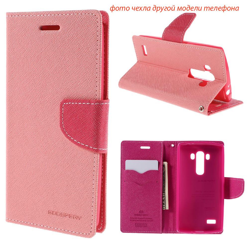 Чехол книжка Mercury Goospery Wallet для LG Max X155 розовый