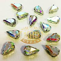Cтразы в цапах Капля Размер 6x10 Цвет Crystal AB