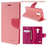 Чехол книжка Mercury Goospery Wallet для LG L60 X135 X145 X147 розовый