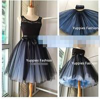 Двухцветная юбка пачка