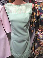 Легкое женское платье с органзой