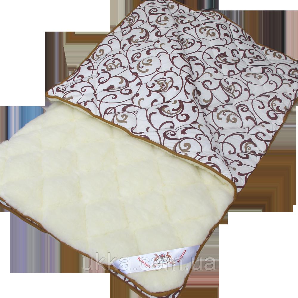 Одеяло двуспальное открытый мех, хлопок 175х210 Ода