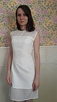 Красивое летнее женское платье белого цвета