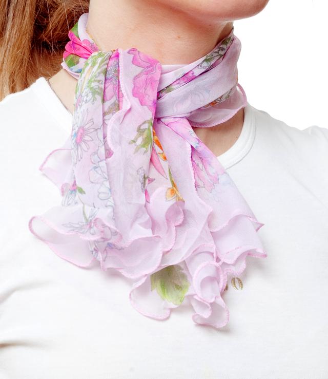 Нежный шейный платок 60*60  (61045) 2