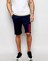 Шорты Adidas синие красный лого