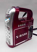 Фонарь радио приемник переносной NNS 096 U с FM, USB, Cardreader светодиодный, аккумуляторный, радиоприемник П
