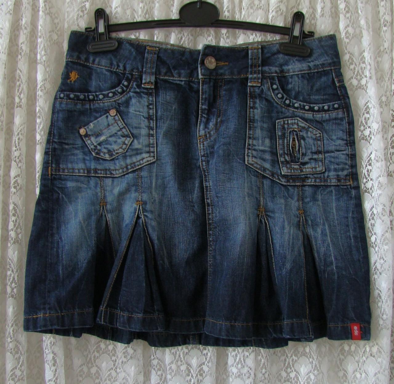 Юбка джинсовая модная синяя Esprit р.42-44 6845а, фото 1