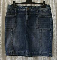 Юбка джинсовая прямая синяя S.Oliver р.44 6846а