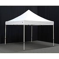 Шатер 3х3 раздвижной экспресс белый палатка беседка тент, фото 1