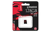 Карта памяти Kingston 4K microSDXC 128GB Class 10 UHS-I U3 R90/ W80MB/ s (SDCA3/128GBSP)