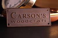Латунный шильд Carsons