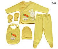 Набор для новорожденного (на выписку), 5 предметов, в упаковке. 0-4 мес