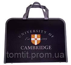 Портфель пластиковый «Cambridge (Кембридж)», на молнии с тканевыми ручками, формат А-4