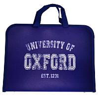 Портфель пластиковый «Oxford (Оксфорд)», на молнии с тканевыми ручками, формат А-4