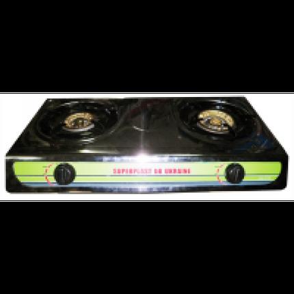 Настольная газовая плита, таганок МРИЯ - 2 На две конфорки , нержавеющая поверхность , с пьезо розжигом ., фото 2
