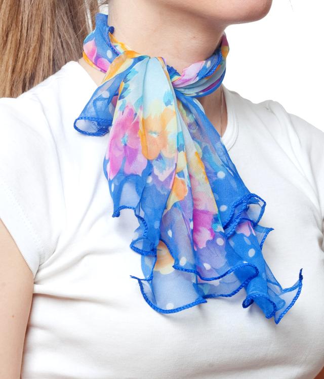 Нежный шейный платок 60*60  (61057) 2