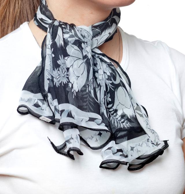 Нежный шейный платок 60*60  (61058) 2
